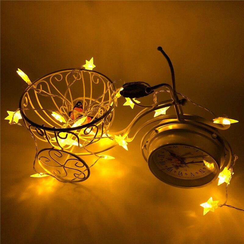 Alambre de cobre LED cadena luces centelleantes alambre de cobre vacaciones iluminación guirnalda luces árbol de Navidad decoración para fiesta de boda
