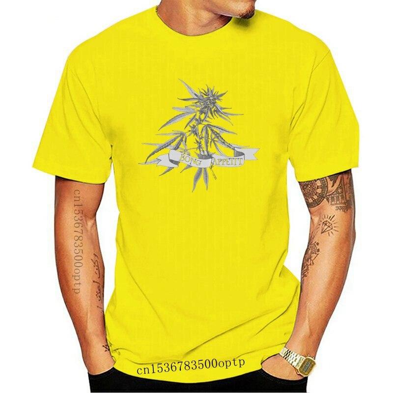 New Print Pothead Shirt Bong Appetit T Shirt Men 2021 Plus Size S-5xl Cotton Men T-Shirts Hiphop Tops