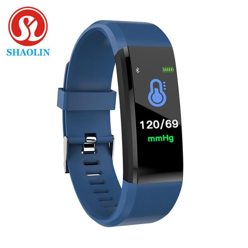 SHAOLIN 15 Smart Bracelet Watch for Men Women Smart Wristband Fitness Tracker Pressure Sport Watch Heart Rate Monitor Band