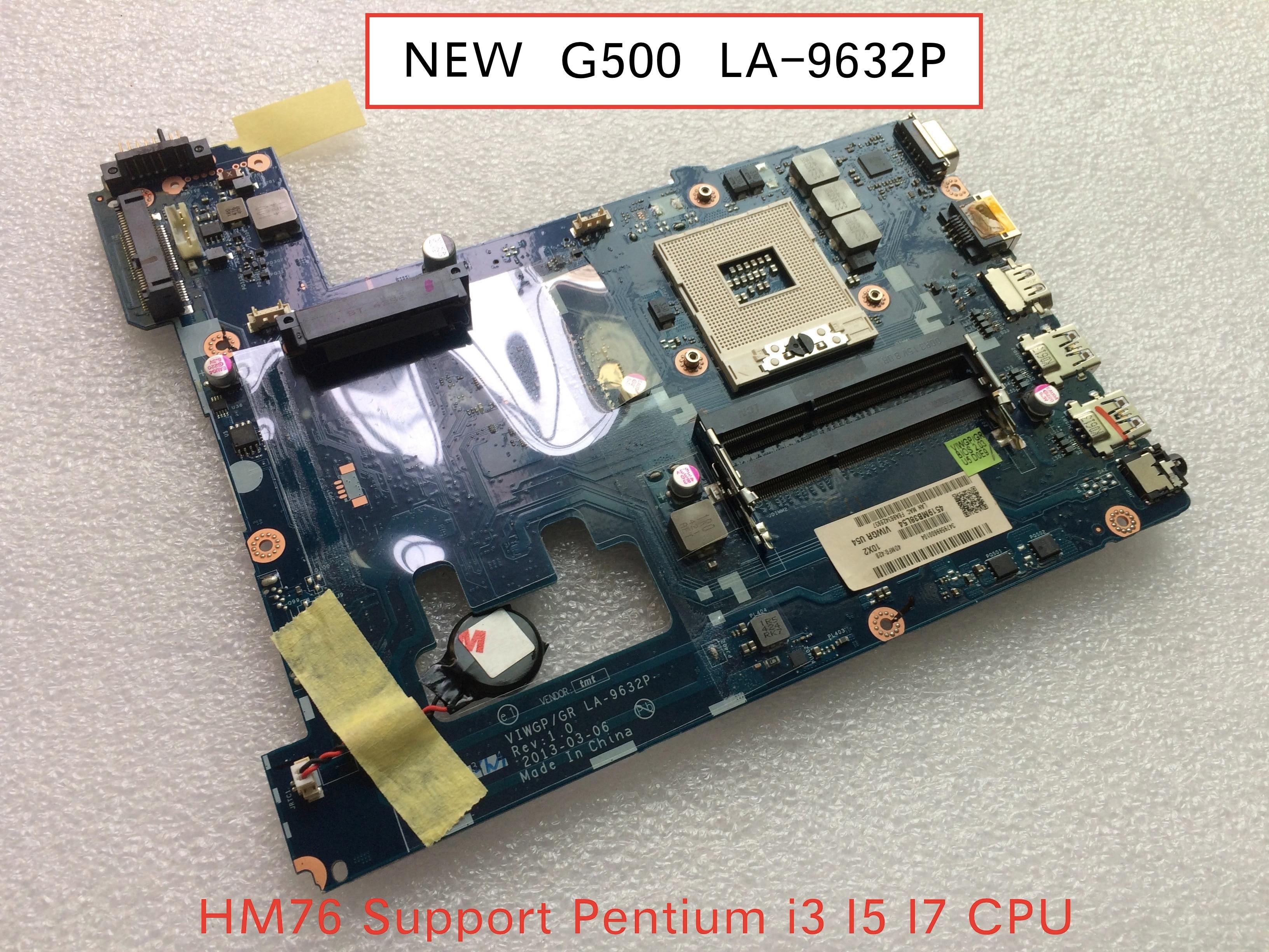 Frete grátis original para lenovo g500 computador portátil placa-mãe LA-9632P mainboard