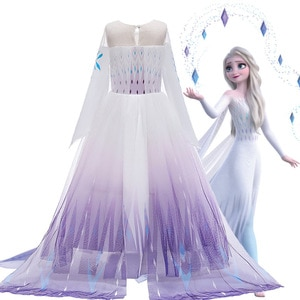 Dress Disney Ice and Snow / Asha Costume Show / Girl's Dress Role Play Dance Party Evening / Dress Baby Girl Halloween Clothes