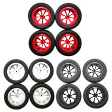 4Pieces Wheel Tire Tyre for WPL D12 1/16 RC Truck Car DIY Upgrade Parts