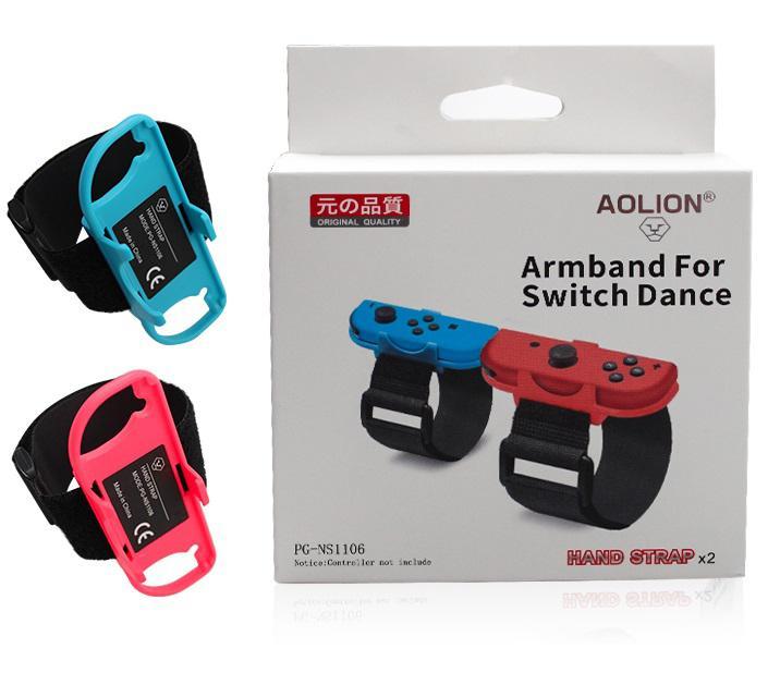 BEESCLOVER, 1 par, pulsera de juego ajustable, correa elástica para Nintendo Switch, controlador Joy-Con, banda de baile de muñeca r20