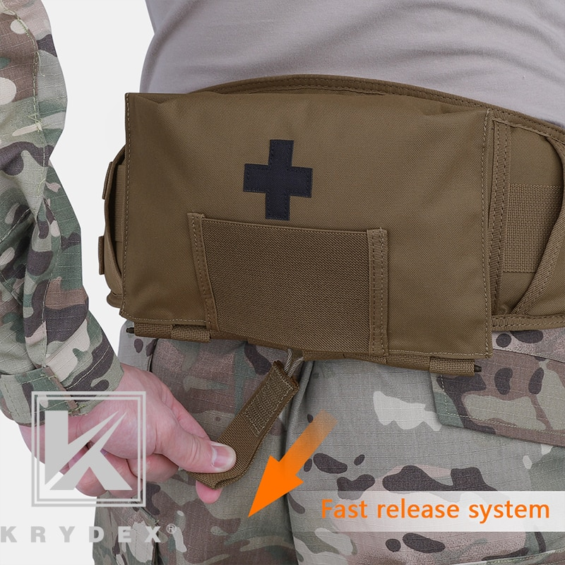 "KRYDEX LBT9022 Taktische Dichtung Kit Medizinische Beutel 5.5 ""* 9"" CB Modulare MOLLE Gürtel Quick Release Outdoor Notfall ausblasen Tasche"