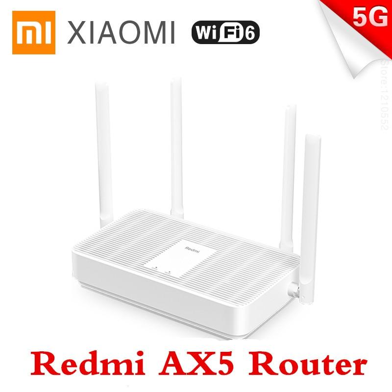 New Xiaomi Redmi Router AX5 WiFi 6 2.4G /5G dual Frequency Mesh network Wifi Repeater 4 High Gain Antennas signal extender