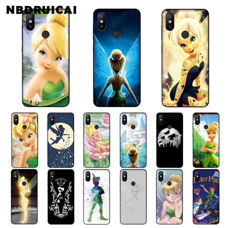 NBDRUICAI Peter Pan Wendy Tinkerbell Tinker bell funda de teléfono para Xiaomi 8 9 se 5X Redmi 6pro 6A 4X 7 5plus Nota 5 7 6pro