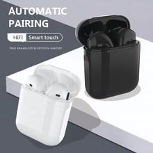 I2 Earphones I12 TWS 5.0 Sports Wireless Headphone for Xiaomi Huawei Samsung Smart Earphone Phone Bl