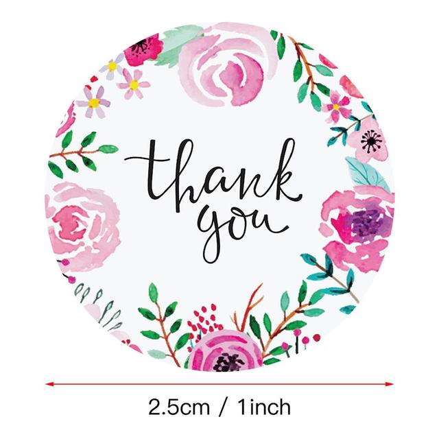 500 Pcs Thank You Stickers Stickers Gift Packaging Sealing Stickers 6