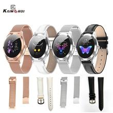 Cinturino originale KW10 Smart Watch donna acciaio inossidabile/pelle per KW20 KW10 LW10 LW20 cinturino 18mm Smart Watch cinturino di ricambio