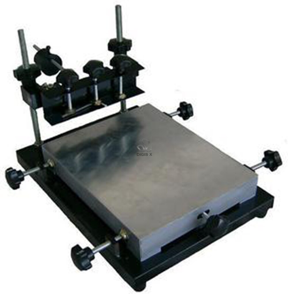 commercial small manual screen printing station SMT manual imprinting station solder paste screen printing machine