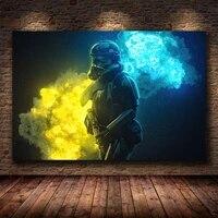 Peinture sur toile avec soldat Star Wars  Art retro abstrait  decoration de maison  pour chambre denfants  affiches de qualite HD