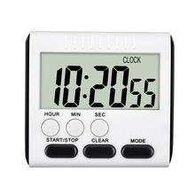 Portable magnétique numérique minuterie cuisine BBQ cuisson compte à rebours Sport étude forte horloge alarme avec grand outil de cuisine LCD