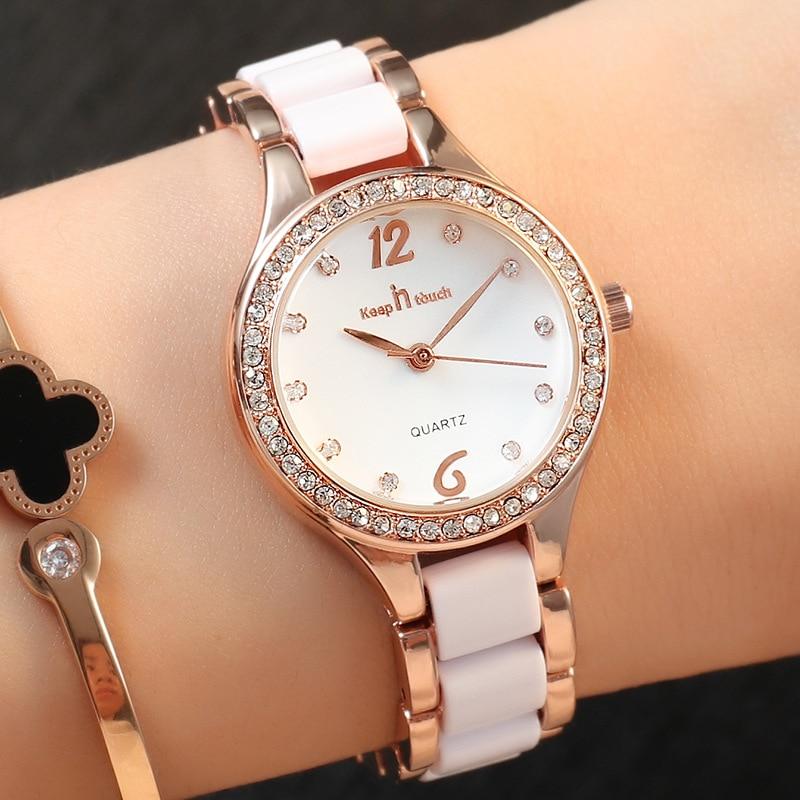 Top Brand Luxury Quartz Watch for Women Fashion Ceramics Strap Waterproof Ladies Watch Elegant Women