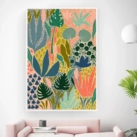 abstract a full garden plants wall art canvas painting large picture posters and prints gallery aisle unique home decor frame