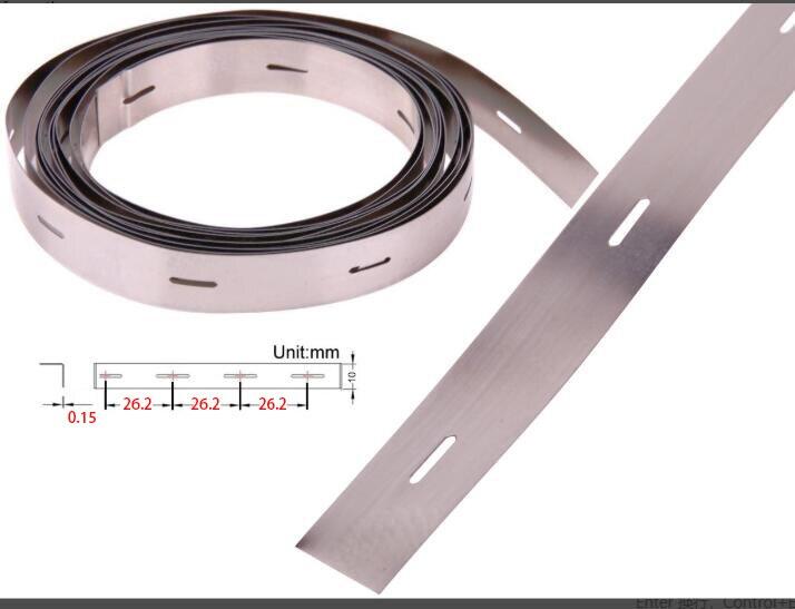 شرائط فولاذية مطلية بالنيكل للحام بالبطارية ، 0.75 كجم ، مساحة 0.15*10 مللي متر ، 26.2 مللي متر