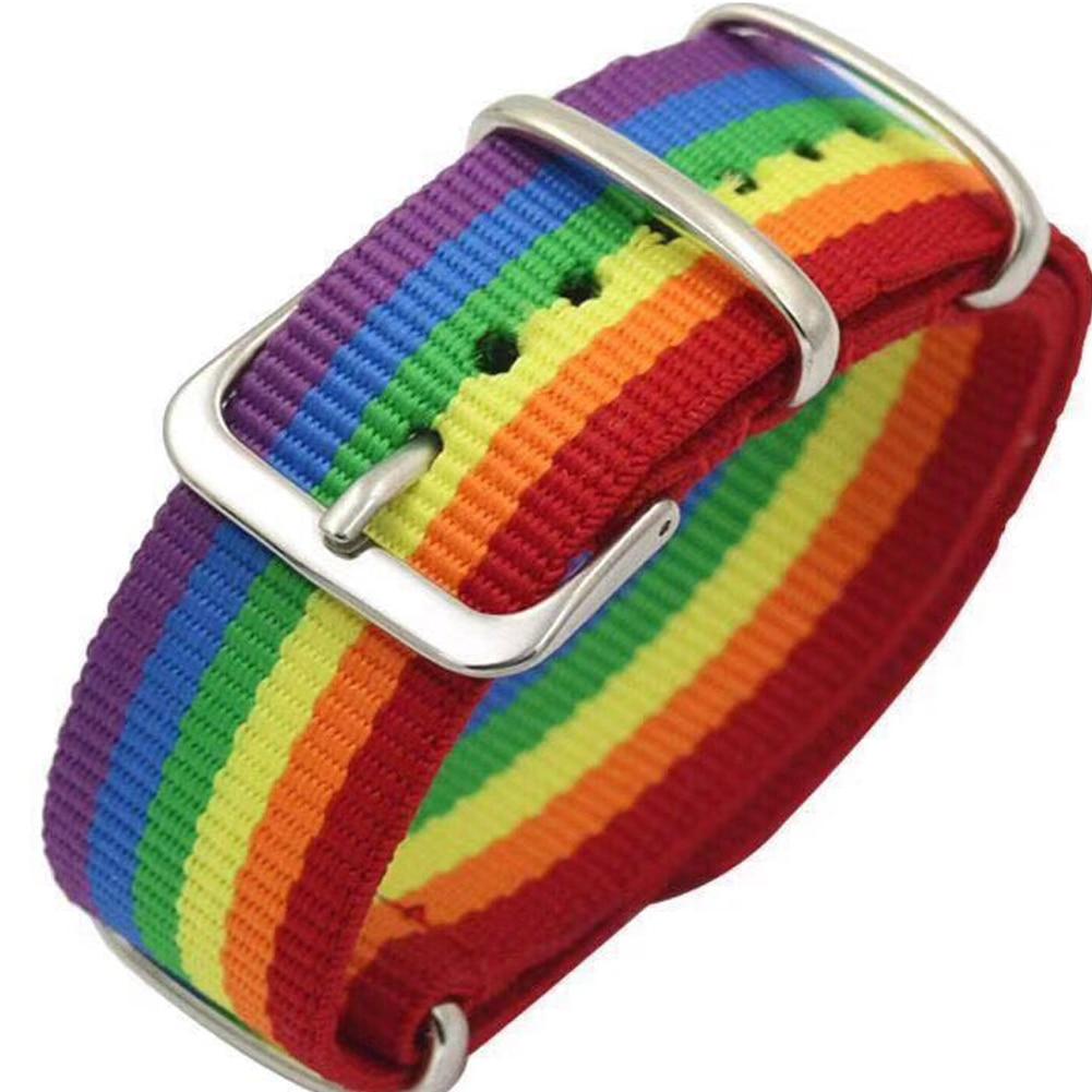 Nepal Rainbow Lesbians Gays Bisexuals Transgender Bracelets for Women Girls Pride Woven Braided Men