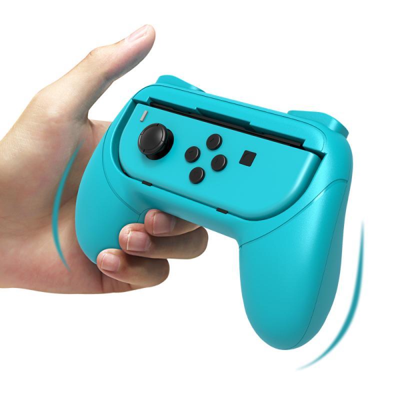 Mais novo esquerda + direita joycon suporte lidar com aperto de mão caso para nintend switch ns joy-con controlador gamepad suporte jogo artefato