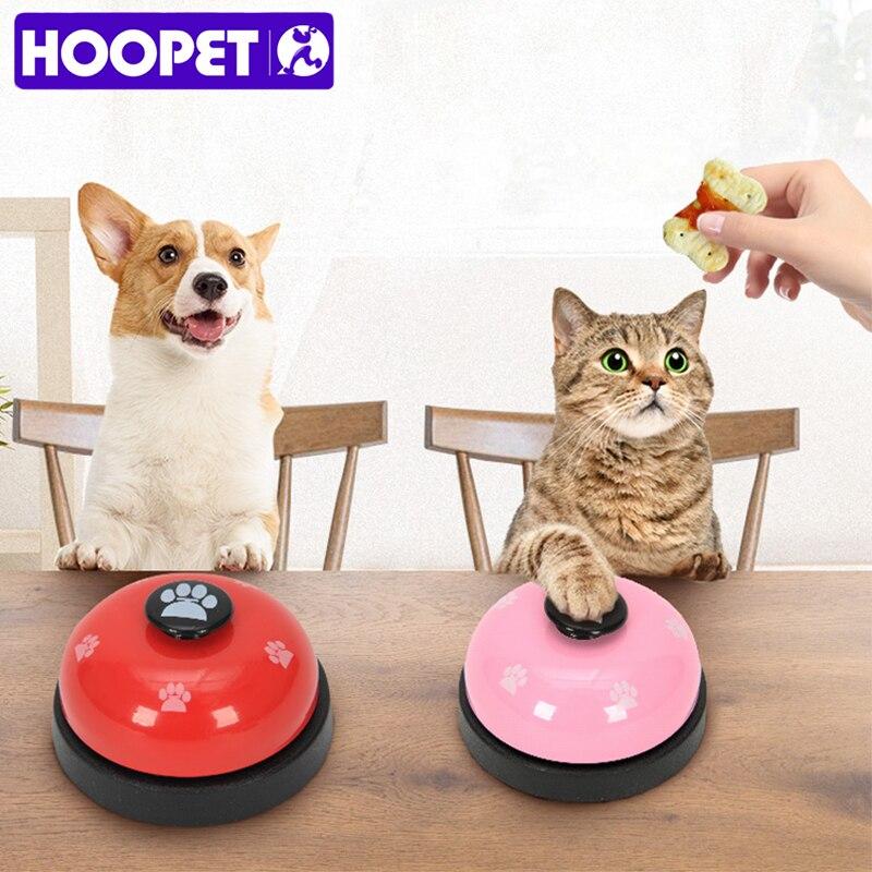 HOOPET, juguete para mascotas, entrenamiento, llamada cena, campana pequeña anillo con huellas, juguetes para perros para osito cachorro, llamada de Mascota