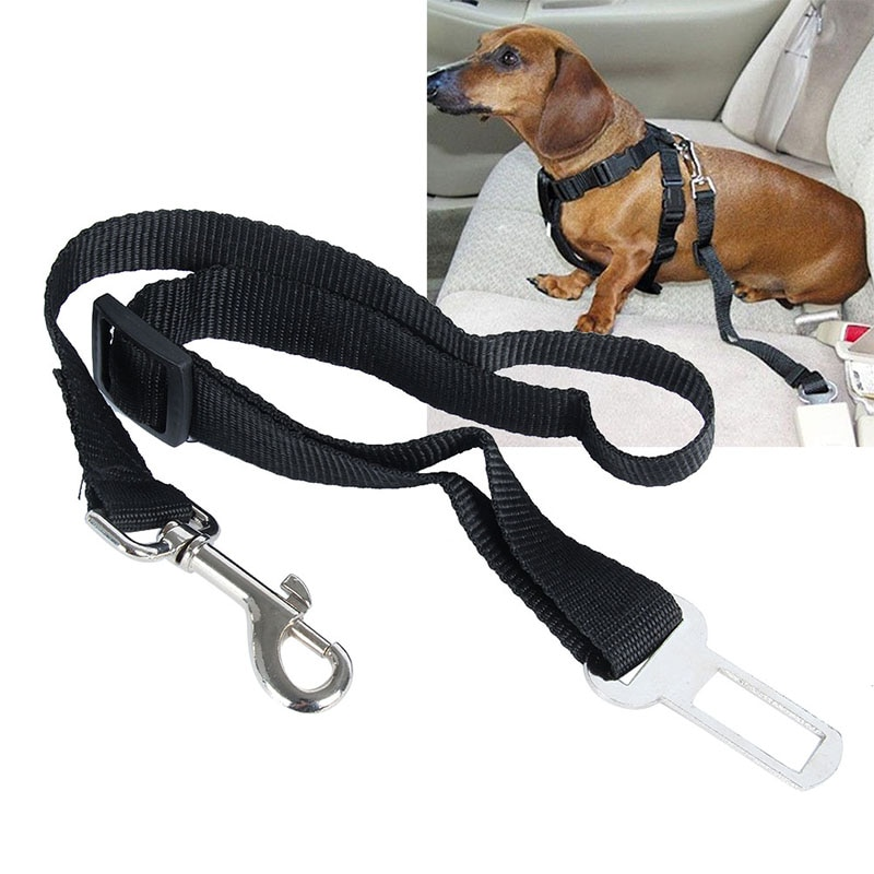 ¡Dropshipping. Exclusivo. Mascota perro gato para cinturón de seguridad de coche arnés ajustable Durable cinturón de perro para perros de Clip, suministros para mascotas nuevo!
