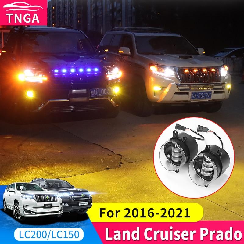 For Toyota Land Cruiser Prado 150 200 Fj150 J20 Front Fog Lamp Modification Accessories Led Gold Fog Lamp Assembly Super Bright