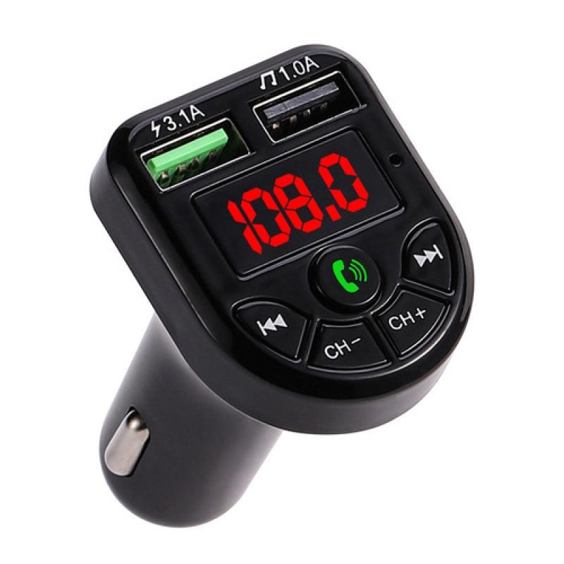 Автомобильный Bluetooth-совместимый mp3-плеер, Автомобильный приемник, быстрое зарядное устройство с двумя USB-портами для навигации и звонков