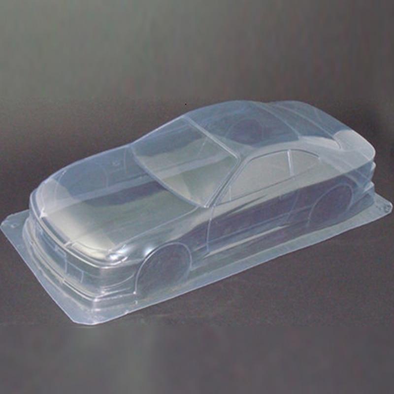 2pcs/lot Silvia7 S15 1/10 1:10 PVC Transparent clean no painted drift body shell for RC hobby racing hsp hpi traxxas Tamiya part