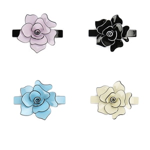 Elegant Hair Accessories Floral Design Hair Barrette More Colors Acrylic Hair Clips Top Quality Flower Hair Clips