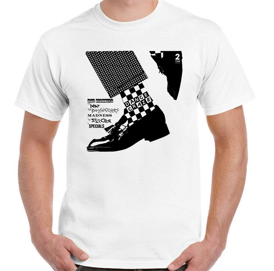Camiseta de 2 tonos especial para hombre, camiseta de baile Ska Craze de 2 tonos, Selector de La Madness Beat, camisetas para hombre y mujer