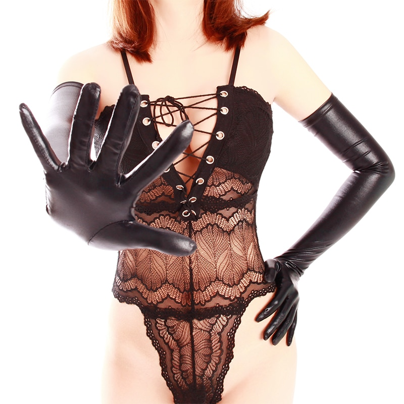 Sexy High Stretch Bronzing Gloves for Women Exotic Appeal Cosplay 60cm/70cm Top Gloss Gilding Long Fetish Dancing Club