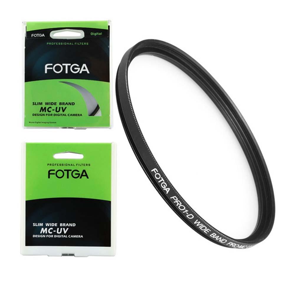 FOTGA 58mm ultra slim Pro MC multi-revestido UV ultra-lente violeta protector de filtro para cámara Canon NIKON Sony