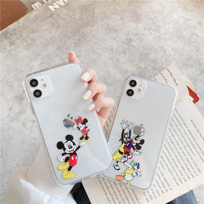 Disney Mickey Minnie phone cover for iPhone11Pro/Max/7plus/XR transparent silicone phone case  - buy with discount