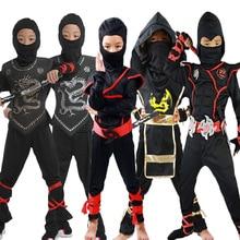 Disfraz de Cosplay de Anime, Ninja Akatsuki Sasuke, máscaras de artes marciales para niños, Guerrero Naruto
