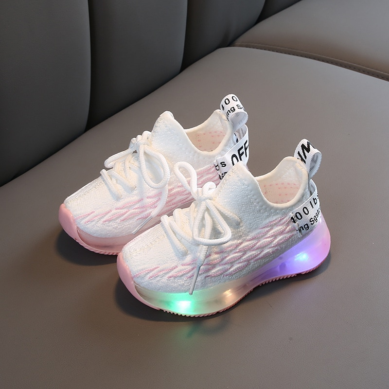 KIDS Led Sports Shoes 1-6 Years Boys Girls Luminous Sneakers Children Glowing Running Shoes Baby Tod