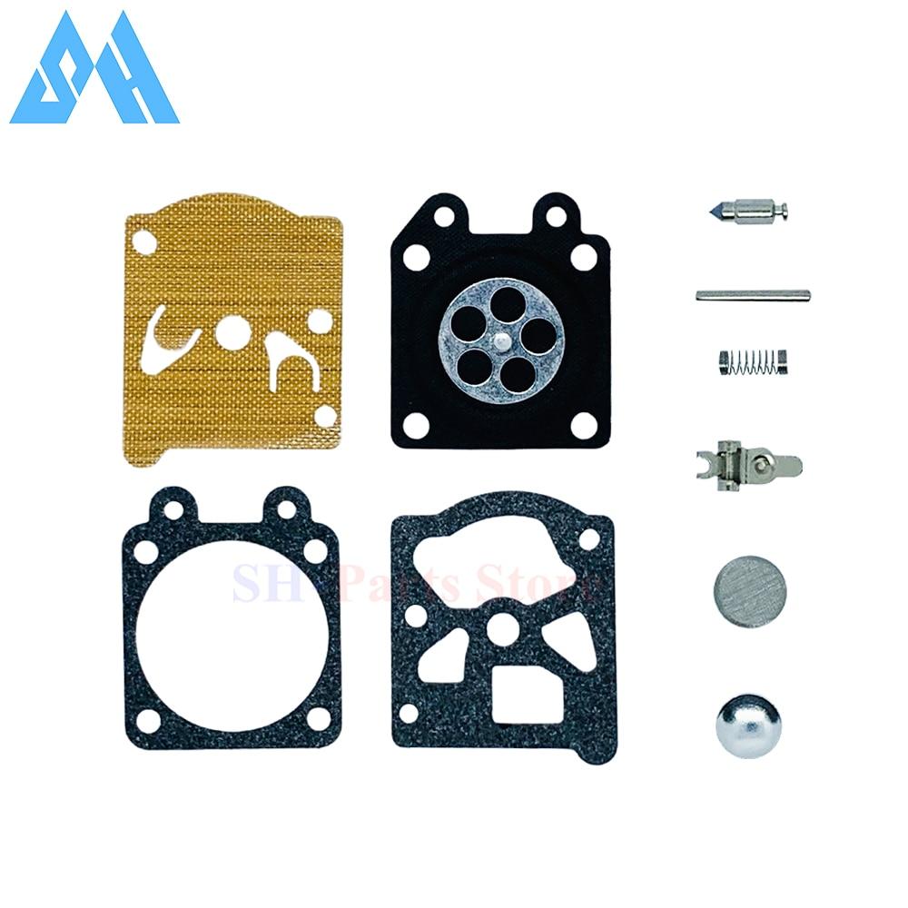 1 conjunto carb carburador diafragma junta kit de reparo agulha para zenoah g3800 motosserra 45cc 38cc 52c peças carburador