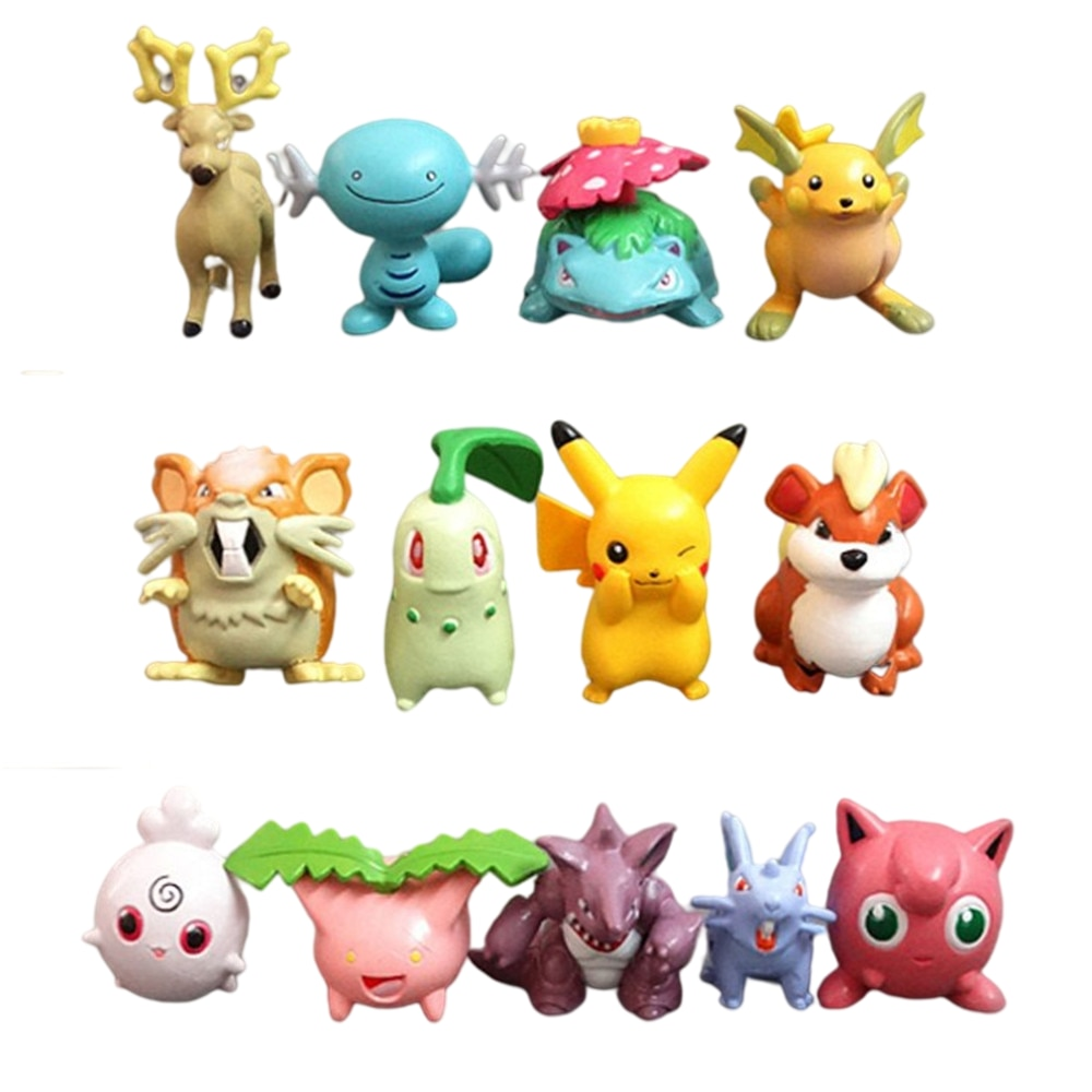 11cm anime pokemon gk pikachu squirtle model statue pvc action figure collectible model toys for children gifts 13Pcs Pokemon Anime Action Figure Pikachu Bulbasaur Charizard Squirtle Collection Action Figure Toys PVC Model Toy