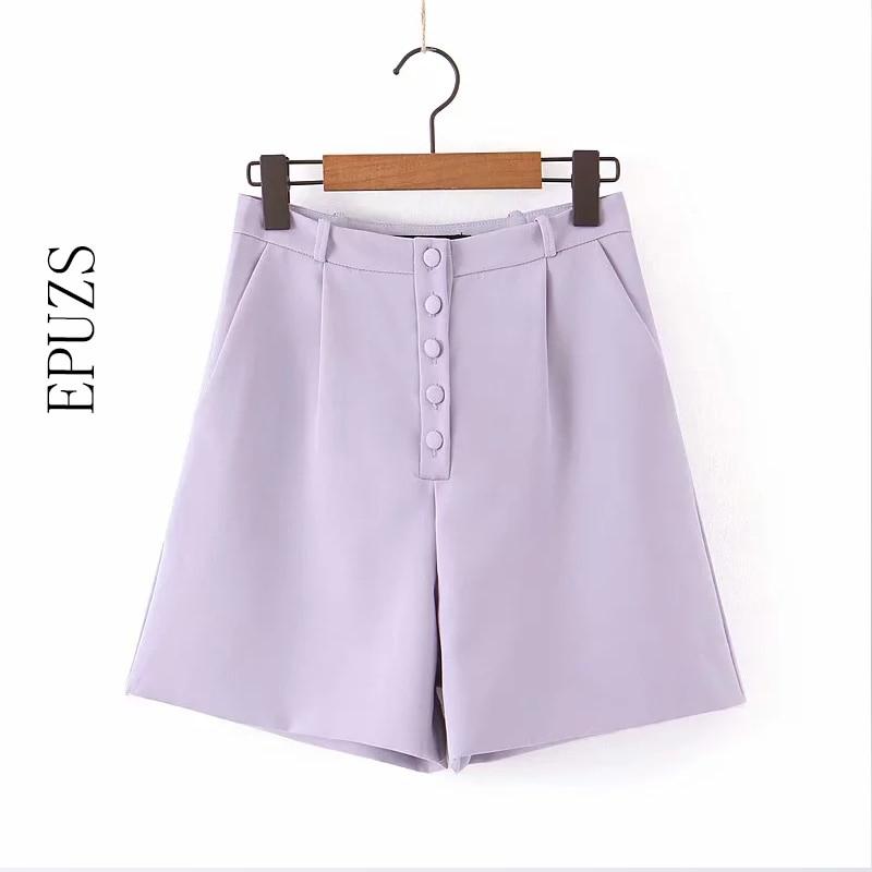 Zomer Hoge Taille Shorts Womens Sexy Casual Button Office Korte Broek Vrouwen 2019 Streetwear Lady Mini Biker Shorts Mujer