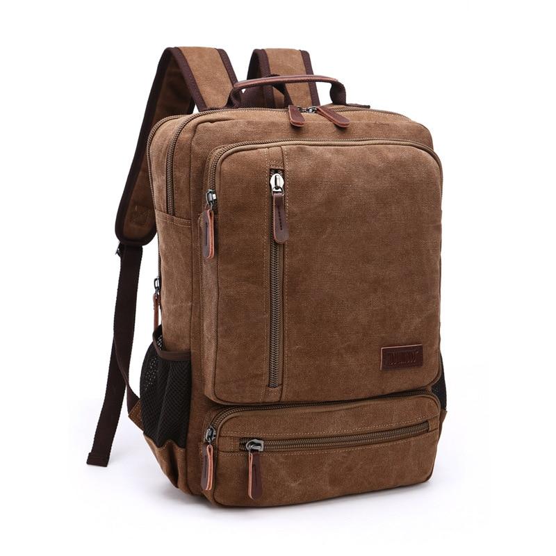 Vintage حقيبة من القماش الرجال سعة كبيرة حقيبة كتفية للسفر عالية الجودة موضة الطلاب حقيبة الذكور دفتر كمبيوتر محمول على ظهره