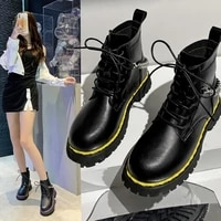 new womens boots 2021 winter naked boots lace up ankle boots large size womens winter shoes chain decoration womens shoes