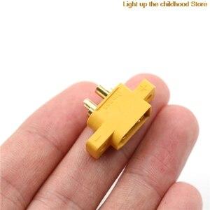DIY запасные части желтый XT60E-M монтируемый XT60 мужской разъем для модели RC Полетный контроллер фиксированной доска