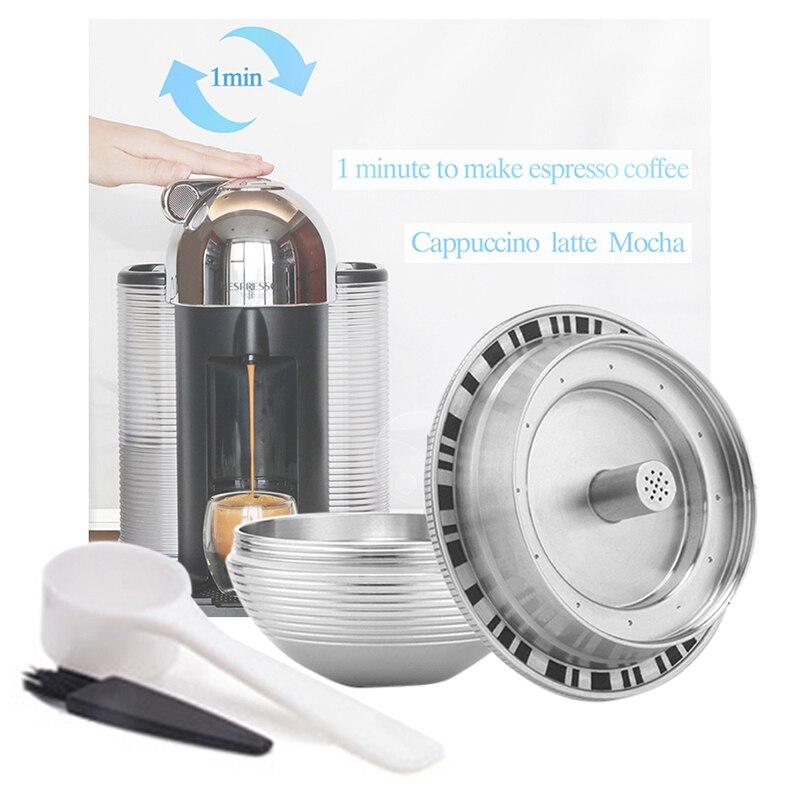 فرشاة عالية الجودة لنسبريسو وفيرتولين وديلونجي ، كبسولة قهوة ENV135 ، كوب ، مغرفة