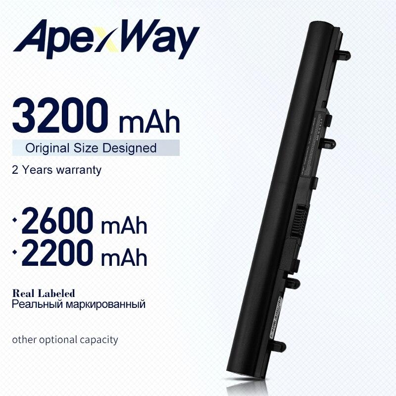 ApexWay 4 zellen laptop akku für ACER Aspire V5 E1 V5-471 V5-531 V5-571 AL12A32 V5-431 V5-171