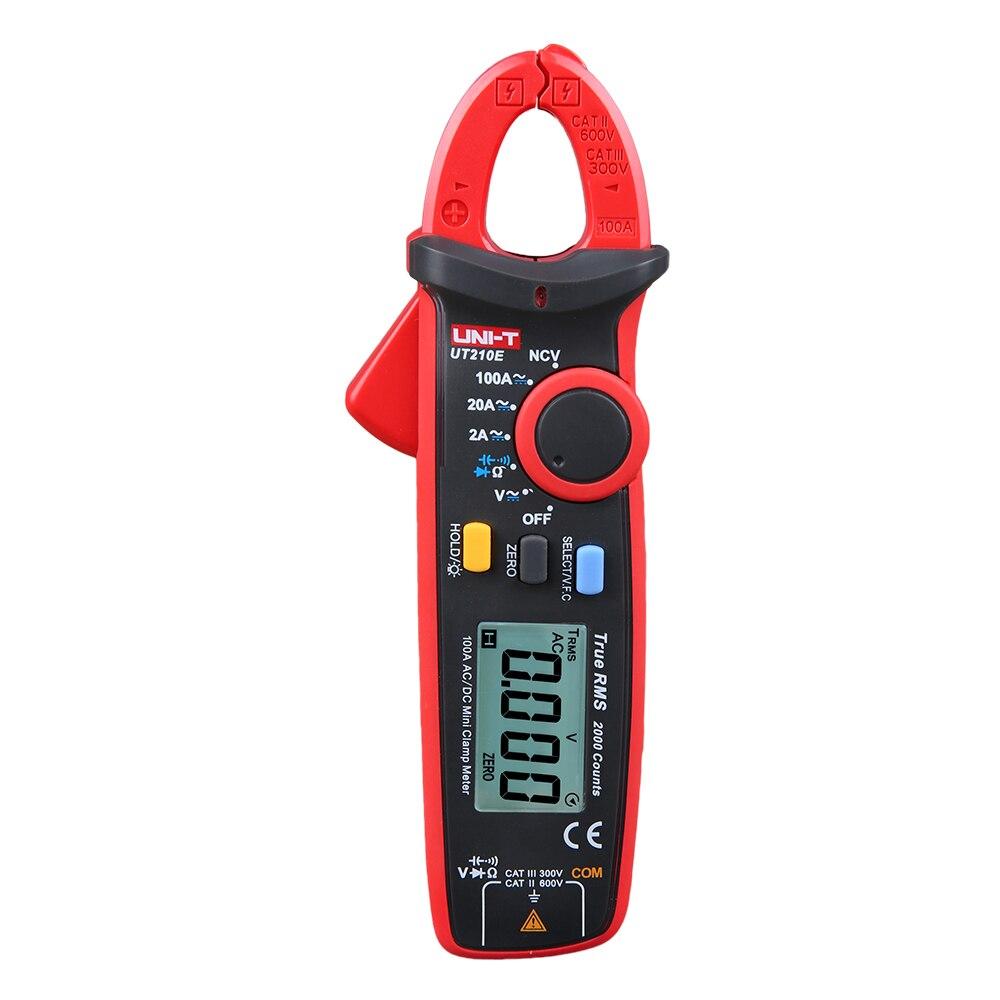 UNI-T UT210E 100A 600V mini digital clamp meter voltage capacitor resistance clamp meter tester