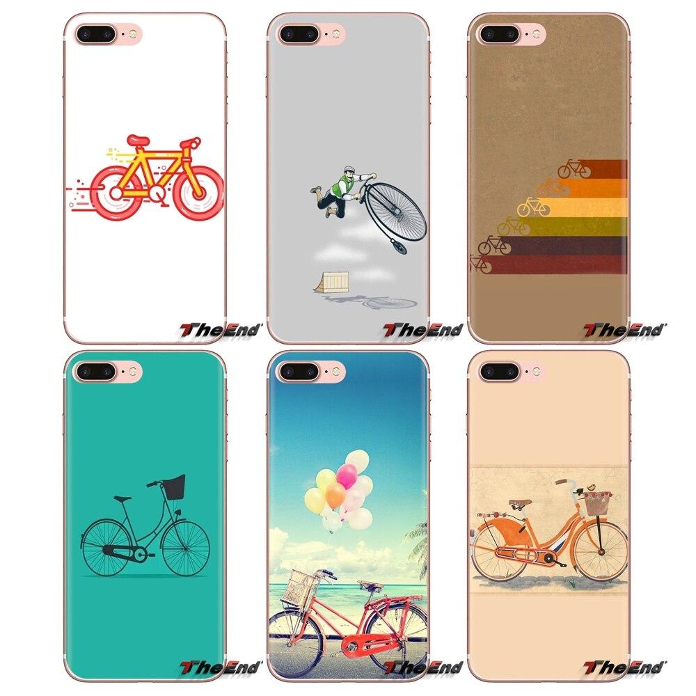 Para Oneplus 3T 5T 6T Nokia 2 3 5 6 8 9 230 3310 2,1 3,1 7 Plus 5,1 2017 moda minimalista bicicleta TPU funda transparente