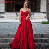 plus size strap satin sweet heart vestidos de fiesta de noche prom party evening dresses robe de soiree back lace up side slit