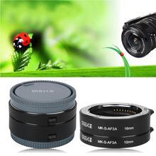 MEIKE MK-S-AF3A otomatik odaklama 10mm 16mm makro uzatma tüpü seti Sony E/FE NEX3 NEX5 NEX6 NEX7 A5000/A6000/A7/A7M2 serisi kam