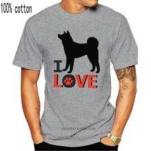 Akita-i Love-nouveau coton gris dame t-shirt marque mode t-shirt