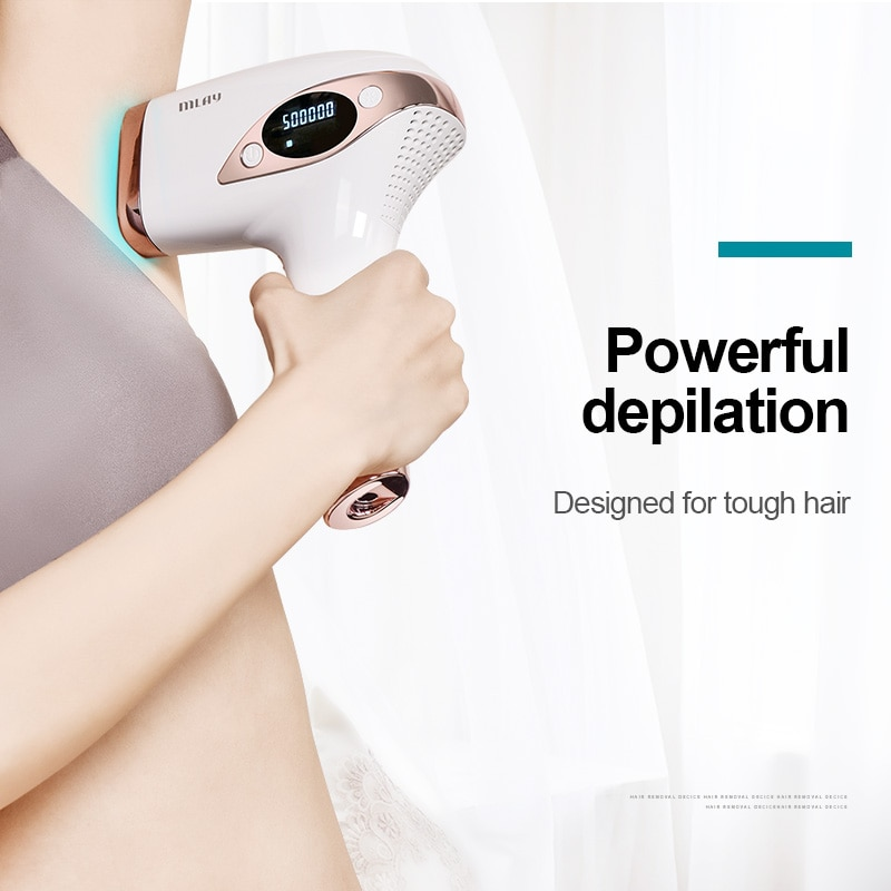 Mlay Laser T4 جهاز ليزر لازالة الشعر ليزر ازالة الشعر ICE Cold IPL لنزع الشعر Flashes 500000 May Ipl Hair Removal غير مؤلم enlarge