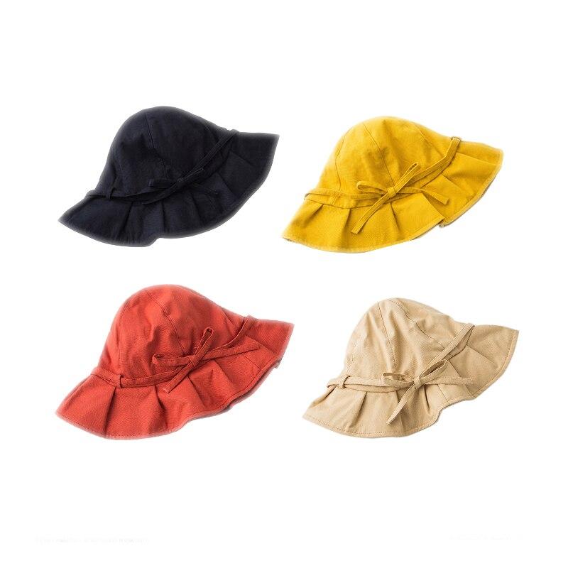 Sombrero de pescador para mujer, versión de verano, sombrilla, sombrero de playa, vacaciones, bonito sombrero con lazo