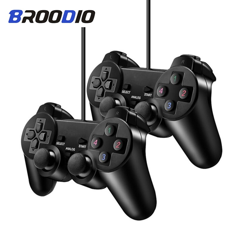 Wired Controller Gamepad For Sony PS2 Playstation 2 Console Game Joystick For PS2 Dual Shock Vibration Dual Shock Wired Controle wired gamepads for sony ps2 controller for mando ps2 ps2 joystick for plasystation 2 double vibration shock joypad геймпад game