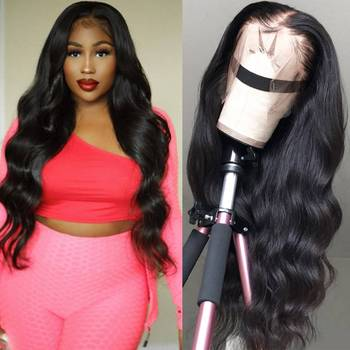 34' Body Wave Lace Front Wig Human Hair Lace Frontal Wig for Black Women Transparent Lace Wig With Baby Hair Brazilian Remy Hair